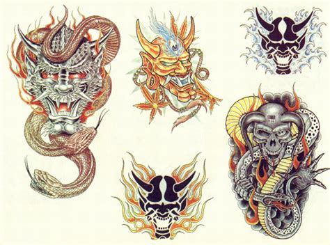 japanese colored demon tattoo designs tattooshunt com