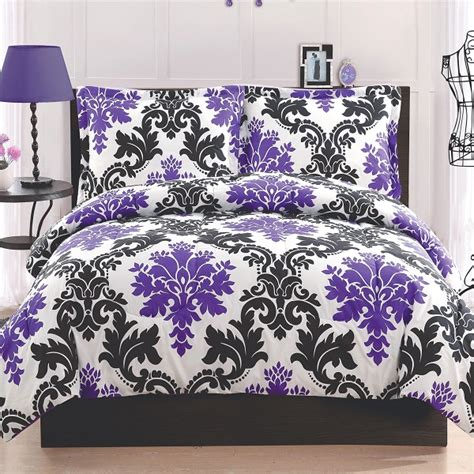 black white and purple bedroom chic black and white bedding for teen girls