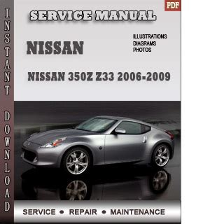 car owners manuals free downloads 2006 nissan 350z roadster seat position control 2006 2009 nissan 350z z33 service repair manual