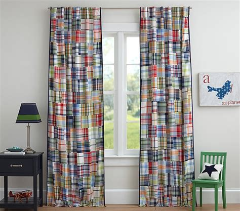 madras shower curtain pottery barn kids madras curtains curtain menzilperde net