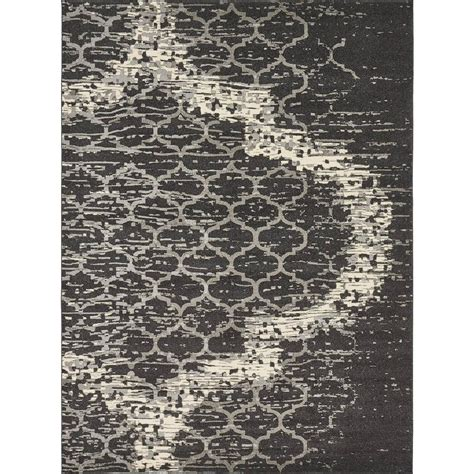 charcoal gray area rug unique loom trellis charcoal gray 9 ft x 12 ft area rug 3134411 the home depot