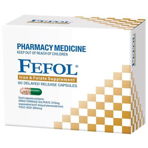Fefol Iron Folate Supplement 30 Capsules Berkualitas buy fefol iron folate supplement 60 capsules at chemist warehouse 174