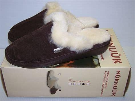 costco slippers new nuknuuk womens slippers browns sz 6 7 9 sheepskin