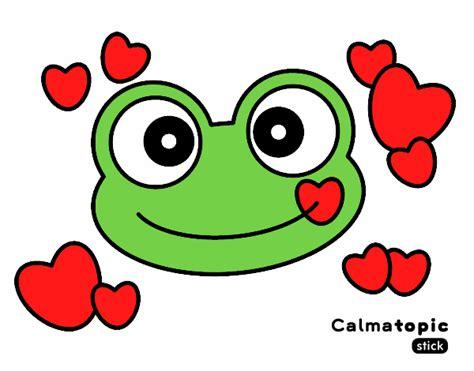 imagenes de ranas animadas de amor dibujo de rana calmatopic amor pintado por jennifere en