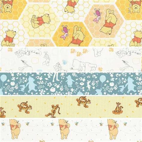 Winnie The Pooh Quilting Fabric by Winnie The Pooh Fabric Five Medley Keepsake Quilting