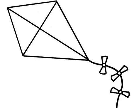 kite coloring pages    kite coloring