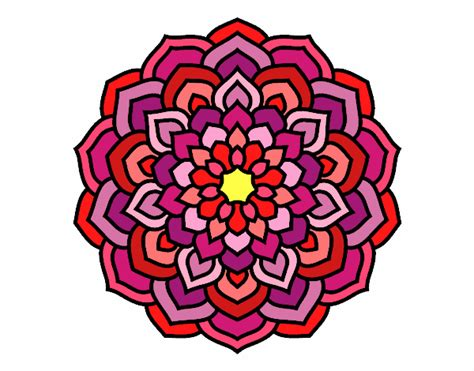 imagenes de mandalas morados dibujo de mandala de los muchos colores pintado por en