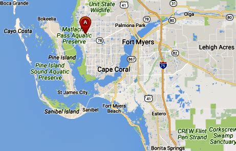 map of cape coral fl cape coral florida map