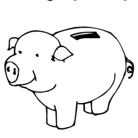 Money Piggy Bank Coloring Pages Sketch Coloring Page Piggy Bank Coloring Page