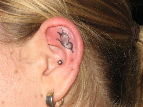 butterfly tattoo inside ear 25 special ear tatoo design ideas for girls