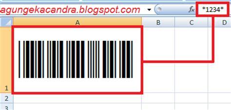membuat kode barcode dengan excel cara mudah membuat barcode di microsoft excel tanpa
