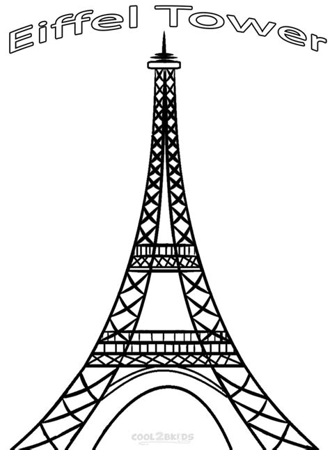 coloring page of eiffel tower printable eiffel tower coloring pages for kids cool2bkids