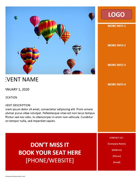 free brochure templates microsoft word event flyer template