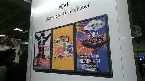 color e paper e ink color e paper is delayed until 2019