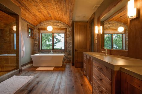 Portable Shower Bath private kelowna residence rustic bathroom other