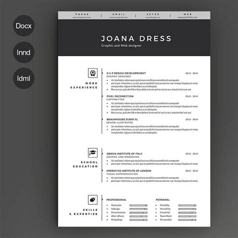 Resume Template 3 Page Moonlight by 50 Best Cv Resume Templates Of 2018 Design Shack