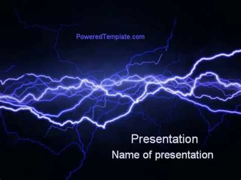 powerpoint templates lightning free lightning in the night sky powerpoint template by