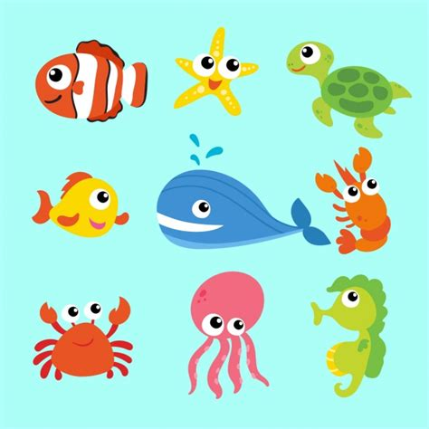 imagenes animales marinos animados colecci 243 n de animales marinos descargar vectores gratis