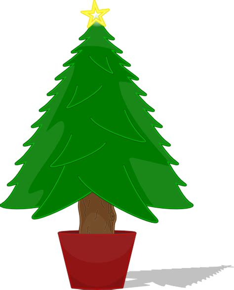 christmas tree cartoon ria9dedil public domain elkbuntu glossy tree clip at clker vector clip royalty free