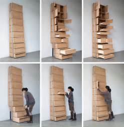 Space Saving Shelving Space Saving Staircase Shelves For Floor To Ceiling Storage