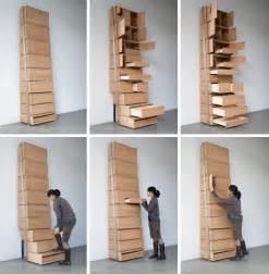 floor to ceiling storage space saving staircase shelves for floor to ceiling storage