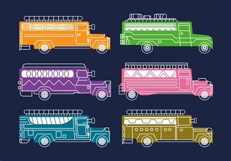 philippines jeepney vector free jeepney vector illustration download free vector