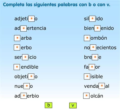 imagenes y palabras con v lengua 5 186 palabras con v