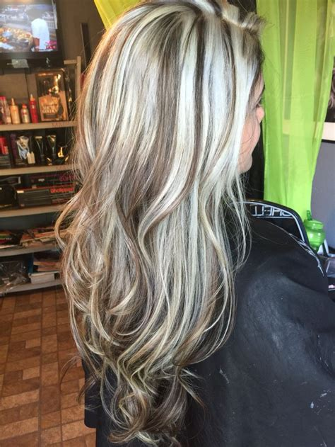 platinum blonde and dark brown highlights 802 best hairstyles images on pinterest hair dos hair
