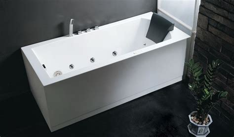 corner rectangular bathtub eago am154 six foot rectangular corner whirlpool tub