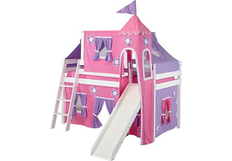 junior loft bed with slide pink cottage white jr tent loft bed with slide top tent