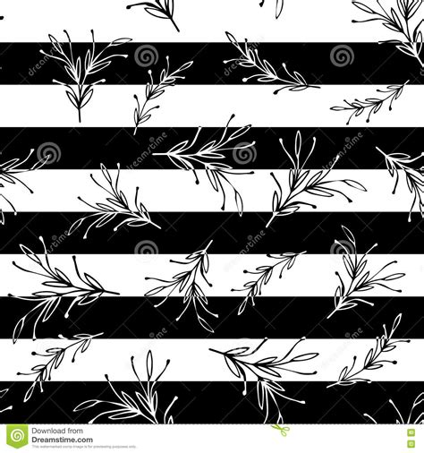 Black And White Striped Minimal Simple Seamless Pattern