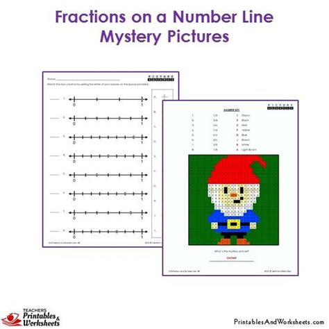 printable fractions on a number line 3rd grade fractions on a number line mystery pictures