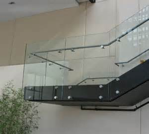 Commercial Handrail Code Frameless Glass Railing