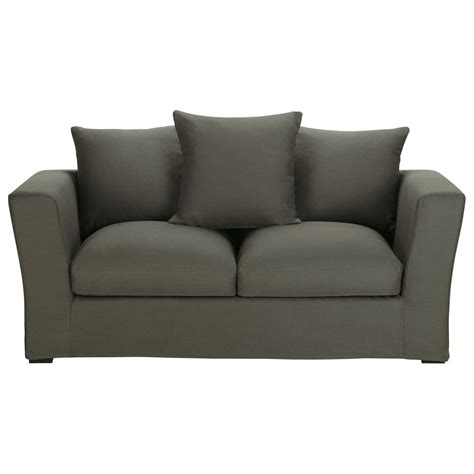 grey linen sofa bed sofa bed in taupe grey linen seats 2 3 bruxelles