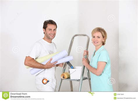 professional decorators professional smiling decorator stock image image 21877841
