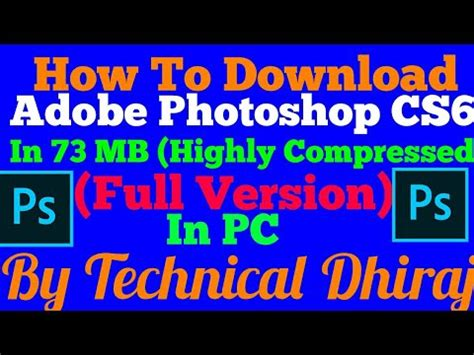adobe photoshop cs4 full version highly compressed how to download adobe photoshop cs6 in 73 mb highly