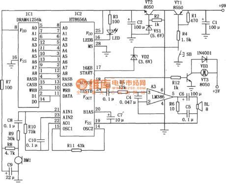 ht8656 record and playback integrated circuit circuit diagram world
