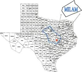 milam county map official site for milam county