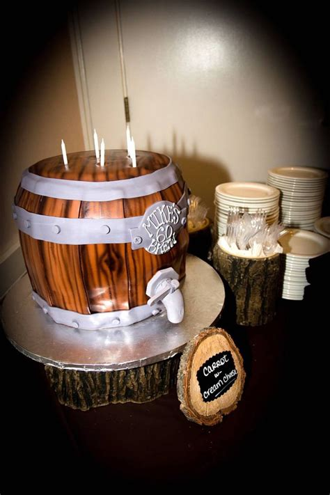 beer barrel cake 29 best men s 60th birthday party country rustic beer
