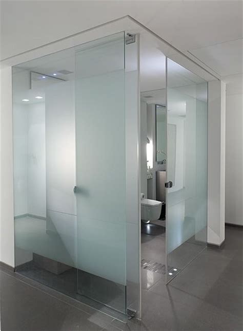 Frosted Glass Interior Doors For Bathrooms 25 Best Glass Bathroom Ideas On