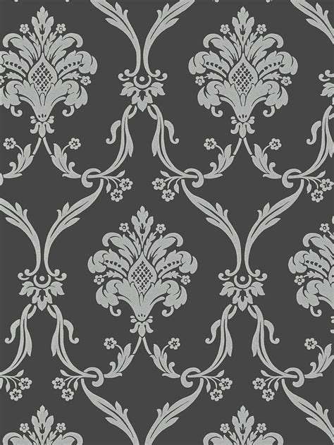 grey victorian pattern silver on dark gray victorian damask wallpaper random