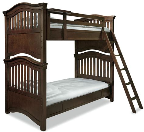 Bunk Bed Guard Rail Smartstuff Classics 4 0 Bunk Bed With Guard Rail Clock Shelf Reeds Furniture