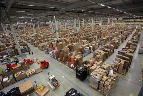 amazon warehouse the inside of an amazon warehouse is a terrifying sight