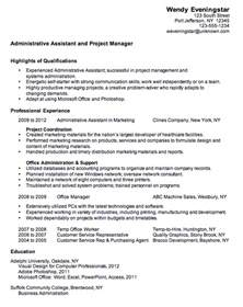 resume admin assistant project manager susan ireland