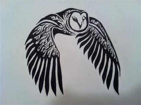 tribal pattern owl tribal owl tattoo by raucousravens on deviantart tattoos