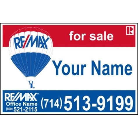 24x36 Real Estate Frame by Remax For Sale Sign 24x36