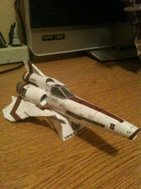 Battlestar Galactica Papercraft - battlestar galactica viper papercraft pic global news