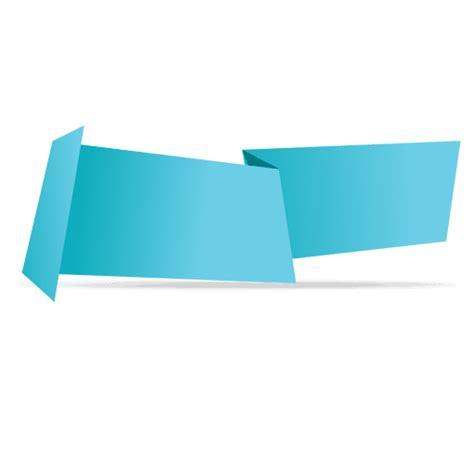 Transparent Origami Paper - blue horizontal origami banner transparent png svg vector
