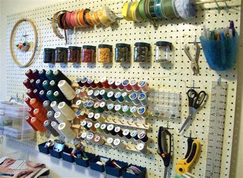 sewing room pegboard ideas pegboard storage ideas crafts sewing