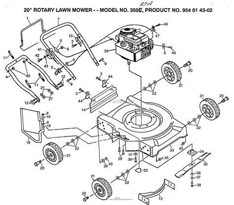 husqvarna norlett nrta rotary     parts diagram   rotary lawn mower